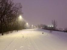 The park late december 2