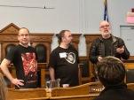 Jonathan Reynolds et Jean Pettigrew remettent le prix Solaris à Luc Dagenais