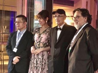 Director & actress with Serge Losique & Silvio Caiozzi, president of the jury