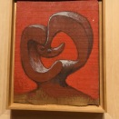 Tête dur fond rouge (Picasso, 1930/02/02)