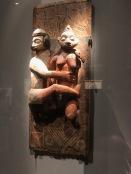 Panneau sculpté polychrome (Artiste nkanu, Congo, avant 1932)