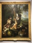 Automne: épagneul et chien de meute, bibier, fruits et légumes (Alexandre-François Desportes, 1713)