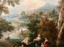 """Détail de """"L'heureuse rencontre"""" (Francesco Zuccarelli, c.1750-1760)"""
