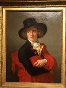 Portrait d'un jeune homme avec une cape rouge et un grandd chapeau (François-Xavier Fabre)