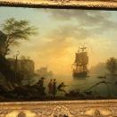 Pêcheurs dans un port méditerranéen, soleil levant (Joseph Vernet, 1763)