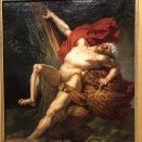 Milon de Crotone, voulant essayer sa force, est surpris et dévoré par un lion (Charles Meynier, 1795)