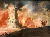 """Détail de """"La Destruction de Sodome et Gomorrhe"""" (Anonyme, c.1610)"""