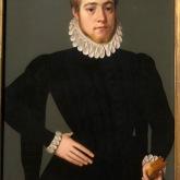 Paire de portraits de maraige d'un homme de vingt-cinq ans et d'une jeune femme de dix-huit ans (Pieter Jansz Pourbus, 1574)