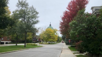 Saint Joseph's Oratory viewed from Surrey Gardens Blvd
