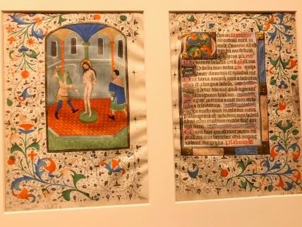 La Flagellation et début de Tierce, c1425-1450, Bruges, McGill University Library. Folios d'un livre d'Heures manuscrit en latin à l'usage de Rome.