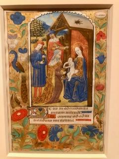 L'Adoration des Mages, c1500, Rouen, McGill University Library. Folio d'un livre d'Heures manuscrit en latin à l'usage de Rouen.