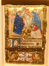 La Déposition du Christ, c1375, Vénétie, Musée des Beaux-arts de Montréal. Folio d'un livre d'Heures manuscrit en latin.