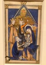 L'Adoration des Mages, c1225-1270, Paris, Musée des Beaux-arts de Montréal. Folio manuscrit d'un psautier, d'un livre d'Heures ou d'un bréviaire.