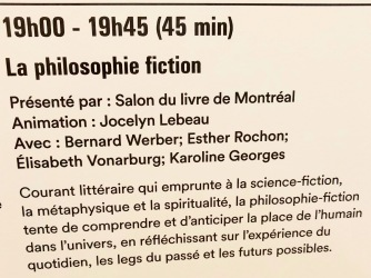 La Philosophie fiction