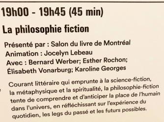 La Philosophie fiction