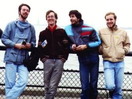 A trip to NYC (Fall 1988): Jean Carrières, Alain Dubreuil. Michel Gareau, Yvon Maillé Jr