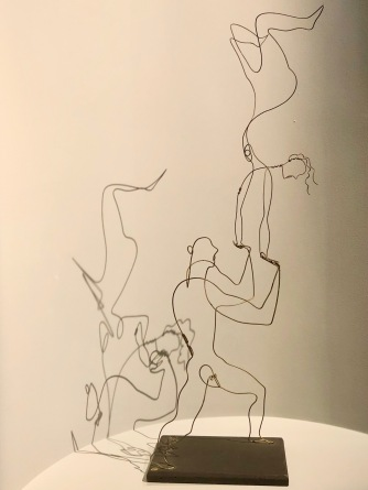 Acrobats, by Calder, c1927, wire & wood