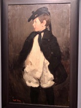 Calder in Scottish Cap and Cape, by Nanette Lederer Calder, c1904, oil on canvas