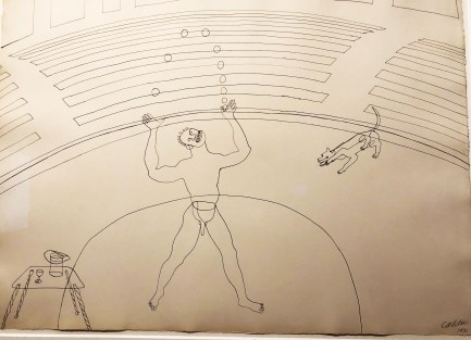 Juggler with Dog, by Calder, 1931, ink on paper