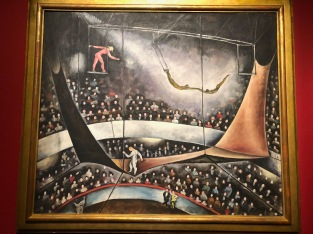 The Flying Trapeze, by Calder, 1925, oil on canvas