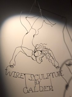 Wire Sculpture by Calder, 1928, wire