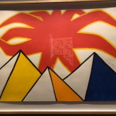 Pyramids and Sun, Calder, 1973