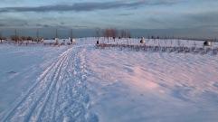 L'accès au parc par l'entrée Émile-Journault n'est vraiment praticable que par les skieurs et les raquetteurs (2019/01/26)