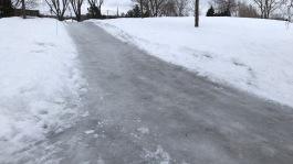 Côte du parc Champdoré glacée