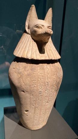Canopic jar of Djedbastetiuefankh - Duamutef (jackal)