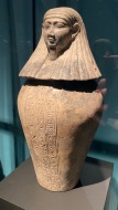 Canopic jar of Djedbastetiuefankh - Imseti (human head)