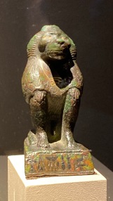 Figure of a baboon representing Thoth
