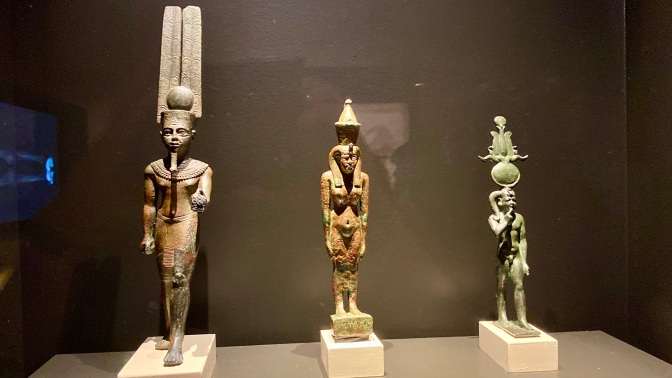 Figures of Amun-Ra, Mut & Khonsu