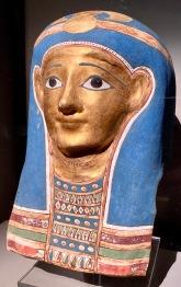 Gilded cartonnage mummy mask